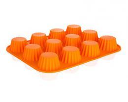 Silikonová forma 12ks košíèky malé 32x24x3,4 cm Culinaria - orange