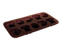 Silikonové formièky na èokoládu zvíøátka 2 Culinaria brown