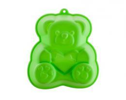 BANQUET Silikonová forma medvídek 14,2x12,3x3,5 cm CULINARIA green