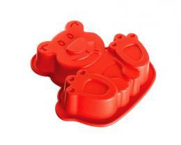 BANQUET Silikonová forma medvídek 14,2x12,3x3,5 cm CULINARIA red