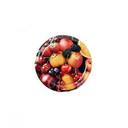 Víèko na zavaøovací sklenice 10ks, 66mm, motiv ovoce