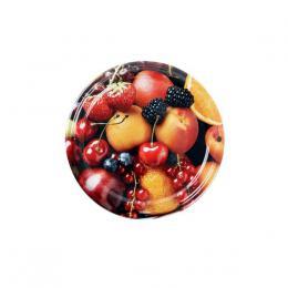 Víèko na zavaøovací sklenice 10ks, 82mm, motiv ovoce