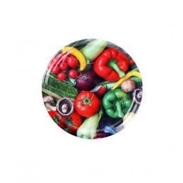 Víèko na zavaøovací sklenice 10ks, 82mm, motiv zelenina