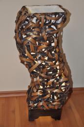 Lampa bambusová støední tvar S