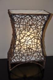 Lampa ratanová malá vèetnì LED žárovky