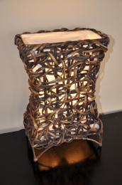 Lampa bambusová malá X vèetnì LED žárovky