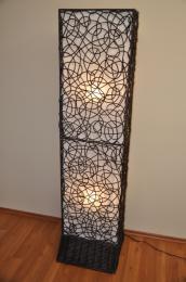 Lampa ratanová vysoká vèetnì LED žárovek