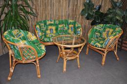 Polstry na soupravu Bahama velká zelené  MAXI