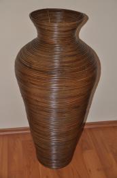 Váza ratanová hnìdá L