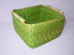 Košík moøská tráva zelevý