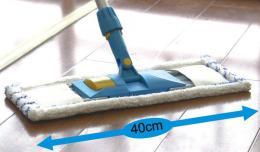Náhradní hadr, mikrovlákno, násada na teleskopickou tyè, 40 x 16,5cm