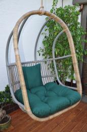 Houpaèka závìsná Cortillard polstr zelený dralon