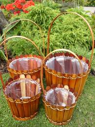 Bambusový obal na kvìtinu set 4 ks