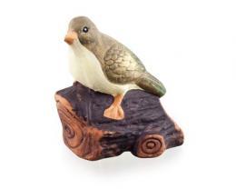 Zvíøátka terakotová - pták na døívku, vel. 13,5x10x15 cm