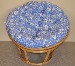 Ratanový papasan pro pejsky motiv modré mráèky - zvìtšit obrázek