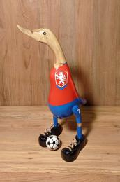 Kachna fotbalista ÈR - døevìná kachna
