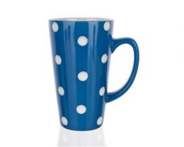 Hrnek vysoký modrý s puntíky