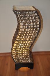 Lampa ratanová støední tvar S vèetnì LED žárovky