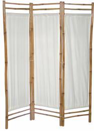 Bambusový paravan bílé plátno