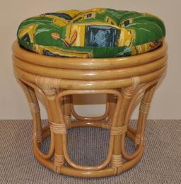 Polstr na ratanovou taburetku zelený - prùmìr 40 cm
