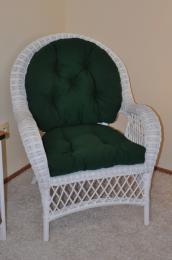 Ratanové køeslo Florida bílé polstr zelený dralon