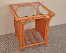 Ratanový stolek Oliver pastelový koòak malý