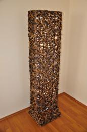 Lampa ratanová vysoká bambus vèetnì LED žárovek