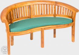 KARLAS Fabio II - polstr na lavici zelený