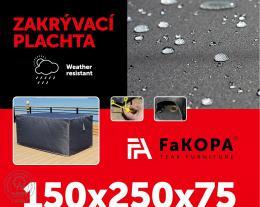 Krycí plachta - 150x250x75 cm