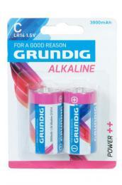 BATERIE LR14 GRUNDIG ALKALINE 3000 mAh, 2KS