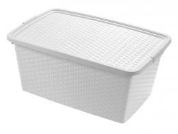 BOX ÚLOŽNÝ S VÍKEM, 10L, PLAST, 33X23X16 CM
