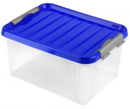BOX ÚLOŽNÝ S VÍKEM 14L, PLAST, 39X28,5X18CM