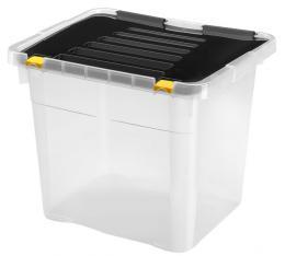 BOX ÚLOŽNÝ S VÍKEM 36L, PLAST, 43 x35 x35,5 CM