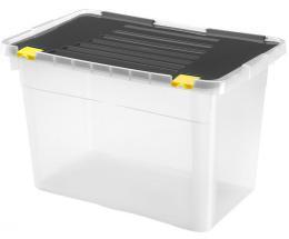 BOX ÚLOŽNÝ S VÍKEM 54L, PLAST, 58X36,5X37,5 CM