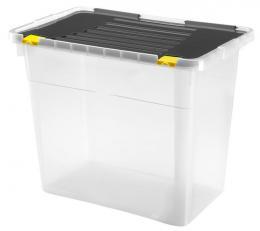 BOX ÚLOŽNÝ S VÍKEM 72L, PLAST, 56X36,5X47,5 CM