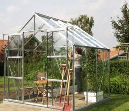 skleník VITAVIA URANUS 6700 èiré sklo 3 mm støíbrný