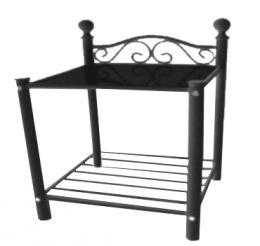 Kovový noèní stolek Dora èerný