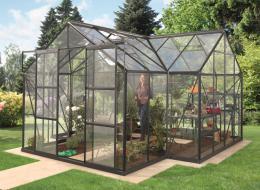 skleník VITAVIA SIRIUS èiré sklo 3 mm èerný