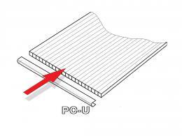 PC U-profily 4 mm pro skleník LANITPLAST DODO 8x10