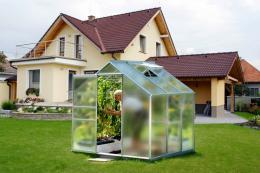 skleník VITAVIA VENUS 3800 matné sklo 4 mm støíbrný