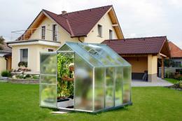 skleník VITAVIA VENUS 5000 matné sklo 4 mm støíbrný