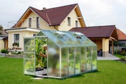 skleník VITAVIA VENUS 7500 matné sklo 4 mm støíbrný