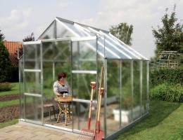skleník VITAVIA URANUS 6700 matné sklo 4 mm støíbrný
