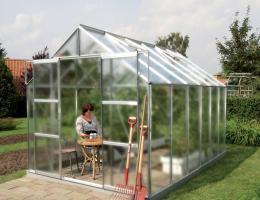 skleník VITAVIA URANUS 9900 matné sklo 4 mm støíbrný