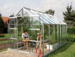 skleník VITAVIA URANUS 11500 matné sklo 4 mm støíbrný