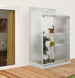 skleník VITAVIA IDA 900 matné sklo 4 mm støíbrný