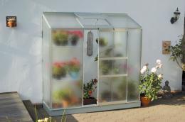 skleník VITAVIA IDA 1300 matné sklo 4 mm støíbrný