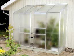 skleník VITAVIA IDA 3300 matné sklo 4 mm støíbrný
