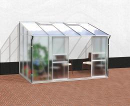 skleník VITAVIA IDA 6500 matné sklo 4 mm + PC 6 mm støíbrný