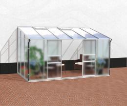 skleník VITAVIA IDA 7800 matné sklo 4 mm + PC 6 mm støíbrný